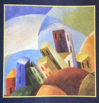 Detail van L uomo delle stelle, Giovanni Varvaro 1928.