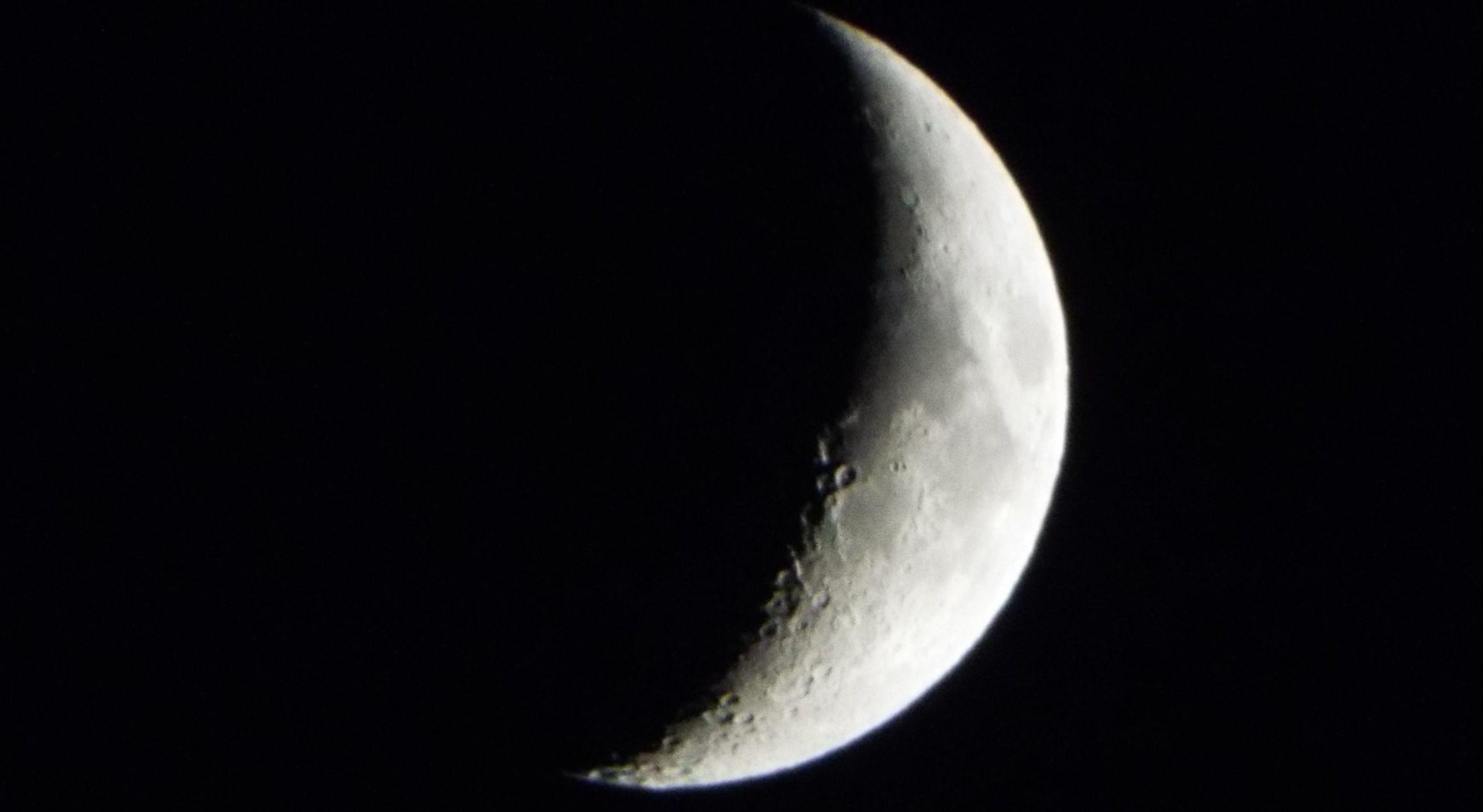 New moon rising © Chris Child